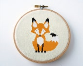 Fox Cross Stitch Pattern PDF Digital Needlepoint Instant Download or Paper chart option