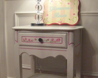 Lovely Hand Painted Nightstand