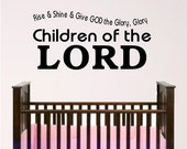 nursery wall art, Children of the Lord