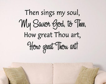 Hymn Wall Art, How Great Thou art,