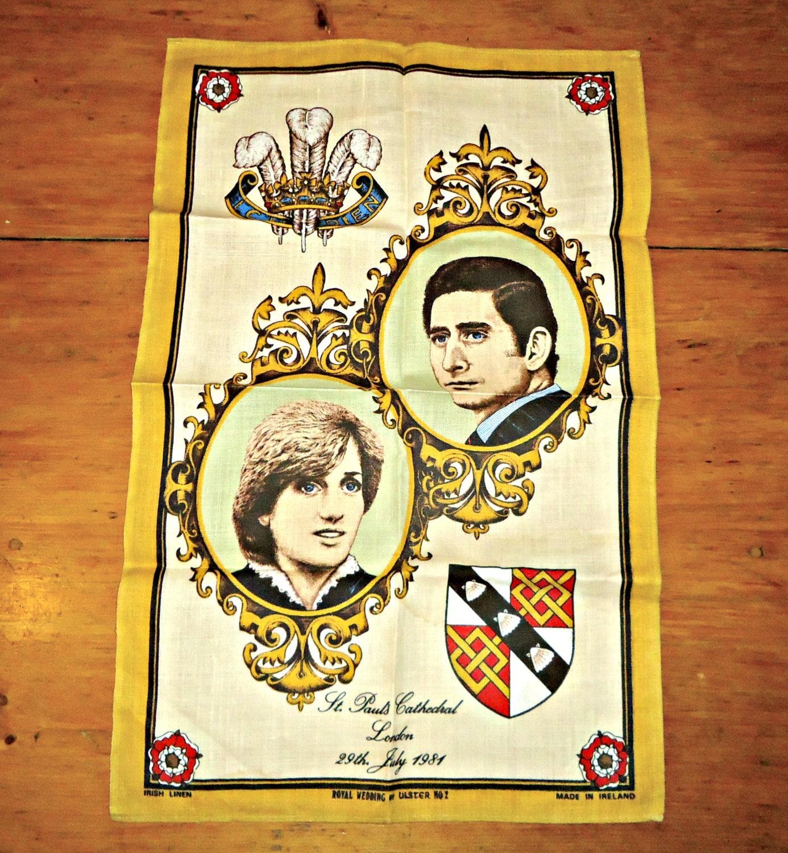 Vintage Towels: Tea Towel Vintage Tea Towels British Royalty Wedding Charles