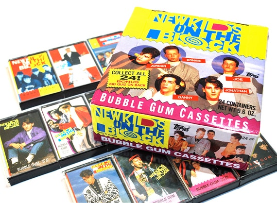 4 New Kids On The Block Bubble Gum Cassette Containers