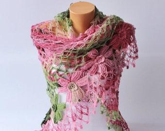 Bridal shawl ,crochet shawl, Bridesmaid gift,  crocheted shrug capelet wrap