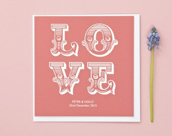 Love Wedding/Anniversary/Valentines Personalised Card