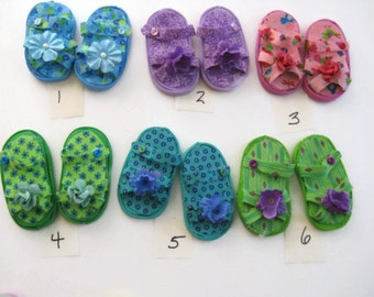 Decorative Magnets Sandals One Pair-  Handmade-Assorted Colors to Choose From