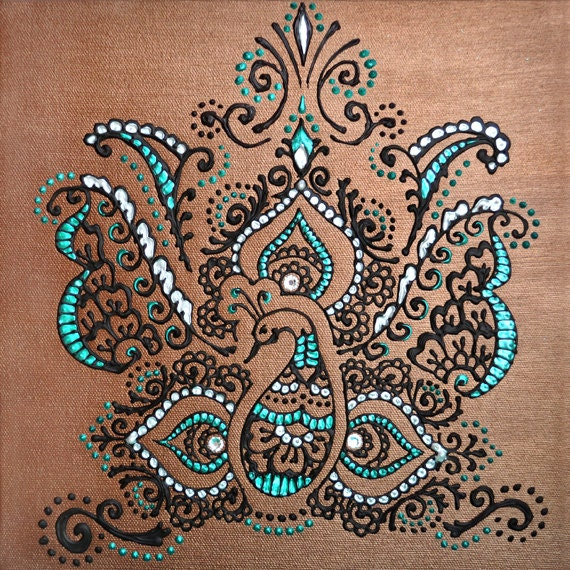 Henna mehndi art office home decor gift choose size can be