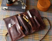 Clemens Leather Cigar, Pipe & Tobacco Pouch -- Hand Dyed and Hand Made in the U.S.A.