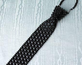 Beaded Necktie - Vintage Handcrafted.  Mens or Ladies!