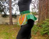African Wax Print Peplum Belt