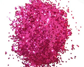 Crimson SOLVENT RESISTANT GLITTER 0.04 hex - 1 Fl. Ounce for Glitter Nail Art, Glitter Nail Polish and Glitter Crafts