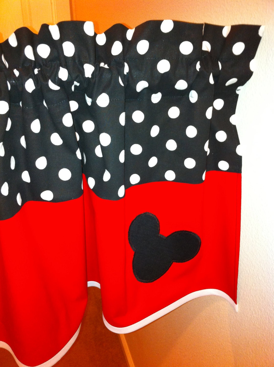 Commickey Mouse Kids Room : Mickey Mouse valance for kids room. Unisex valance by madebyoksana