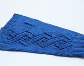 Purple lacey fingerless gloves,handwear, wristwarmers- 100% cotton.