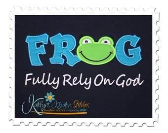 FROG Text Applique - Fully Rely On GOD