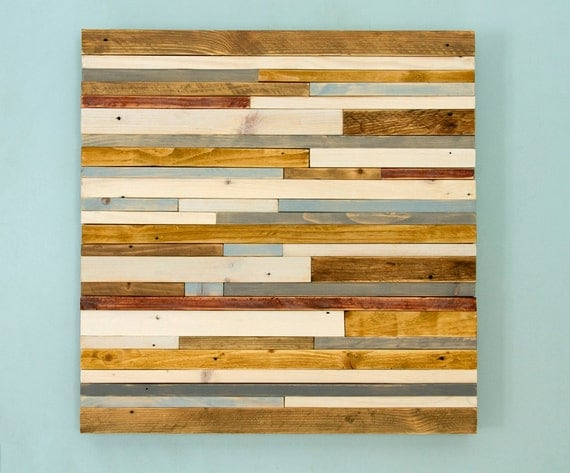 Reclaimed wood wall sculpture art rustic industrial 20 x Reclaimed wood wall art for sale