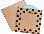 DVD Cases / Sleeves - Set of 18 brown / black print with photo opening on front