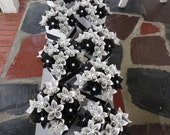 Sheet Music Centerpieces Origami Kusudama Paper Flower Centerpieces Black White - 10