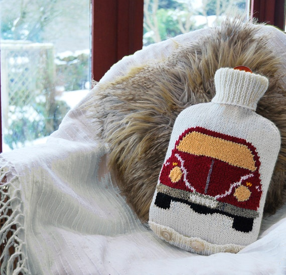 Knitting Pattern Knit a Hot Water Bottle Cover by SnuginaDub