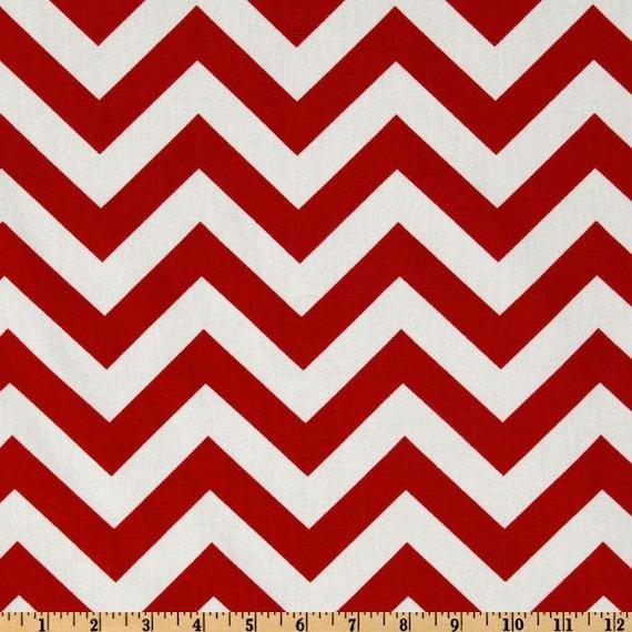 "Premier Prints Fabric/Zig Zag Chevron/Red Lipstick/Home Decor Fabric/Upholstery Fabric/Nursery Fabric/END OF BOLT 1 Yard 7"" x 54"" Wide"