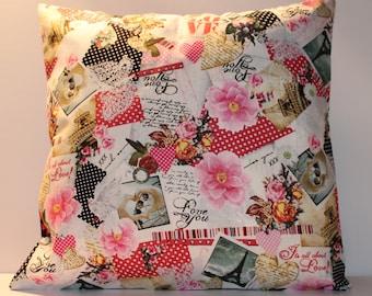 12x12 Valentine's Day Vintage Style Decorative Pillow