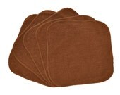 Baby Washcloths Dark Brown, Cloth Wipes, Reusable Wipes, 10 Pack