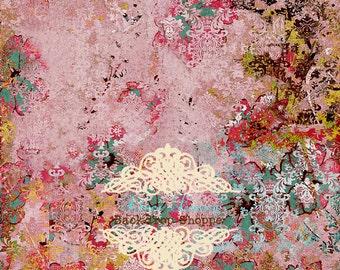 CUSTOMER FAVORITE 5ft x 5ft foot Vinyl Photography Backdrop Sweet Antique Damask