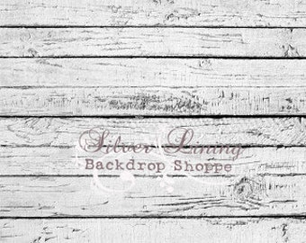 Vinyl Photo Backdrop 2ft x 2ft / Photography Backdrop / White Weathered Wood Floor / Floordrop / Photo Prop /  Newborn Prop