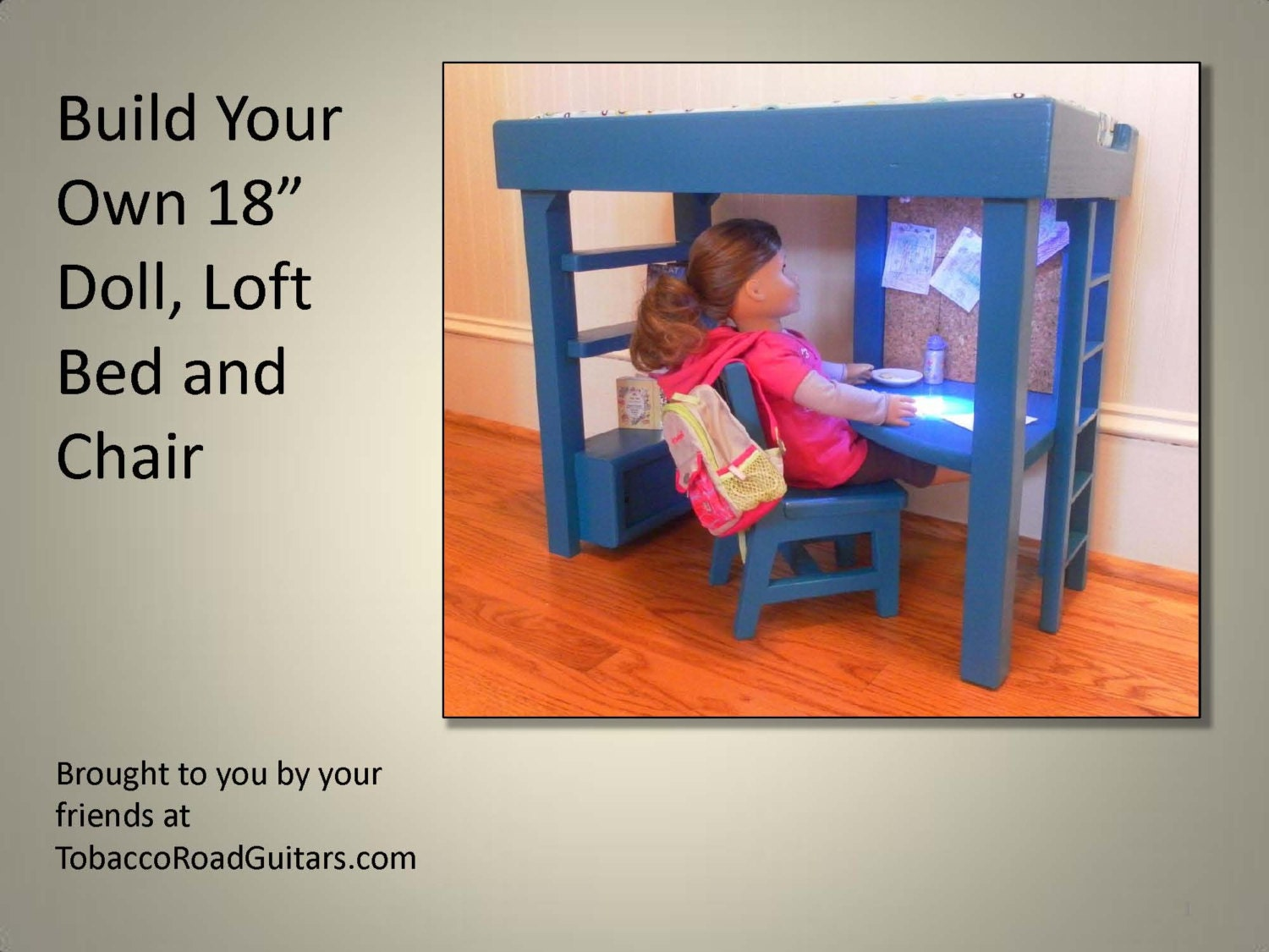 american girl doll loft bed plans