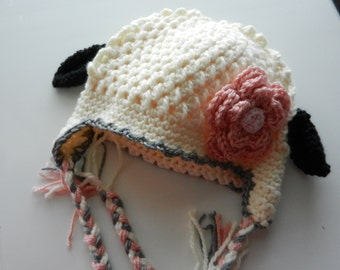 Sheep Hat Sized 1-3T