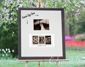 Personalized Wedding Guest Book Decor, Number Photography Wedding Date Guest Book -Sepia Frame - Add your own photo after the wedding