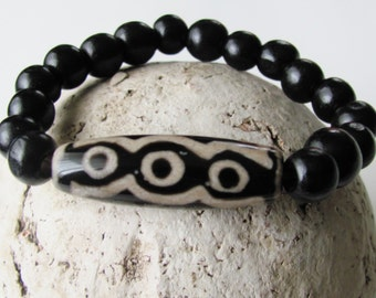 Stretchy Bracelet Mens Bracelet Gifts For Men Mens Jewelry Tribal Jewelry Agate Bracelet Hypoallergenic Jewelry Afrocentric Jewelry Natural