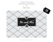 Tying the knot PDF Printable Backdrop