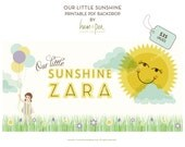 Our Little Sunshine (girl)  PDF Printable Backdrop
