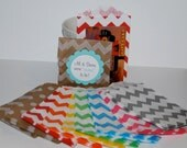 20 Small Chevron Paper Treat Bags  - Mini party favor bags 2.75 x 4 tiny bitty bags - You Pick colors - wedding favor  baby   bridal shower