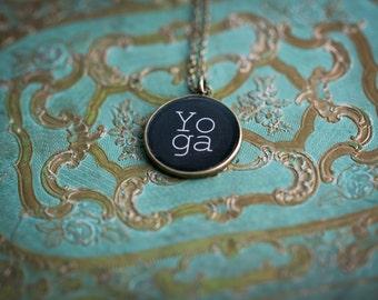 Yoga Necklace - Yoga Jewelry - Glossy Resin Charm