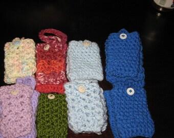 Crochet multipurpose case for cellphone,mp3,money holder