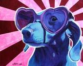 Dachshund, Pet Portrait, DawgArt, Dog Art, Dachshund Art, Pet Portrait Artist, Colorful Pet Portrait, Pet Portrait Painting, Art Prints, Art