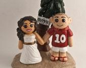 Custom Made Beach Bride and Groom Wedding Cake Topper