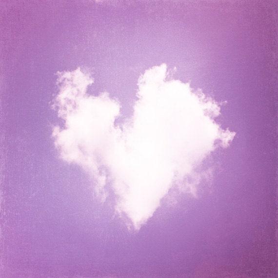 Heart Photography cloud love purple nursery by CarolynCochrane