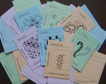 Downloadable Zentangle Pattern Organizer Cards