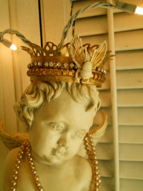 Reserved Vintage Queen Bee Crown Ooak For By Vintagepackratqueen
