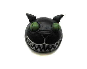 Halloween Magnet - Spooky Cat Magnet - Halloween Decor - Made to Order