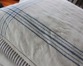 RESERVED - French Linen Pillow - Stripe