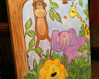 """Canvas Original """"Jungle Fun"""""""