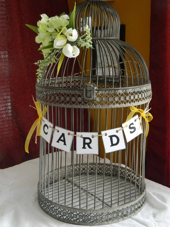 Wedding Cards Box Suitcase Banner-Wedding Cards Birdcage Sign/Cards ...
