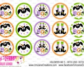"15 Halloween Mix 5 - Witch Legs Digital Download for 1"" Bottle Caps (4x6)"