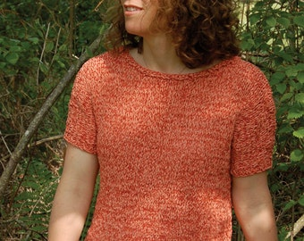 Summer Top to Knit PDF Pattern Instant Download