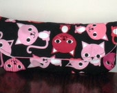 Pink and Red Kitty Pencil Case