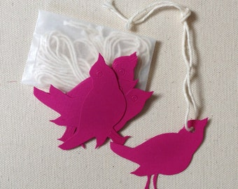 Diecut bird tags