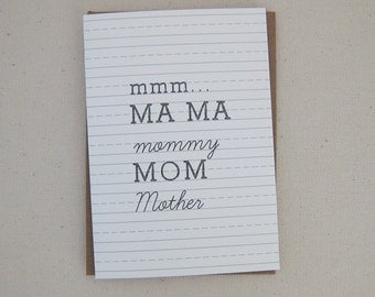 Dashed mom card