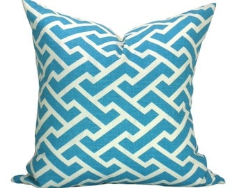China Seas Aga Reverse pillow cover in Turquoise
